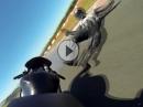 Lowsider Crash Yamaha R6 Nürburging - Hinterrad weg, Fahrer ok