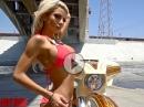 Lynnie Marie Sexy Shooting Harley-Davidson Street Glide