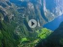 Lysevegen, Lysebotn (Norwegen) schwindelig kurven ... Hammer Pass