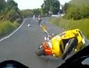 Mad Sunday auf der Isle of Man - Brandgefährlich wie der Crash zeigt