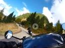 Manghen Pass von Molina im Fleimstal bis zur Passhöhe mit Ducati Monster
