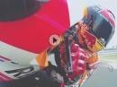 Marc Marquez onboard Tiefflug Misano World Circuit Marco Simoncelli