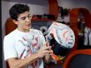 Marc Marquez Spezial Helm für den CatalanGP 2019 in Barcelona