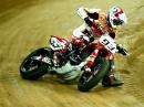 Marc Marquez Zeitlupe beim Superprestigio Barcelona Dirt Track 2014
