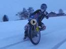 Markus Reiterberger Wintertraining auf selbstgebautem Speedway Track