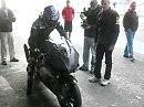 Max Biaggi tests the Aprilia RSV4 at Portimao