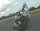Max Biaggi onboard Nürburginrg GP-Strecke mit Aprilia RSV4