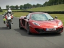 McLaren 12C vs. Ducati 1199 Panigale S in Cadwell Park Showdown