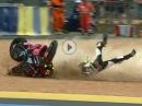 Mega Crash: Kurve ausgeganen, Rodeo, Überschlag, Loyau, SpeedTeam72 in Le Mans