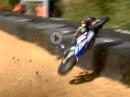 Mega Crash über Streckenbegrenzung, Brands Hatch. Wo ist mein Motorrad?