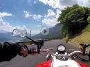 Mendelpass runter Richtung Bozen mit Ducati Monster