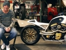 Mickey Rourke Custombike Loki bei Roland Sands