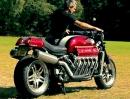 Millyard Viper V10 Motorrad Eigenbau. Allerfeinstes Handwerk
