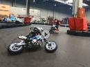 Minibike Winter Gaudi, Kartbahn Kaufbeuern mit Supermoto4fun