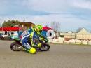 Minibiker Valentino Rossi mit VR46 Academy in San Mauro
