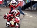 Minimoto / Miniquad Stuntshow - die Konkurrenz für Chris Pfeiffer übt fleißig