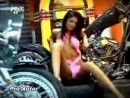 Miss Playboy Romania 2006 on a custom bike