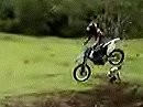 Motocross Abflug vs. Familienplanung - Rühreier und blitzschnell Tränen in den Augen.