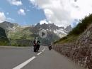 Mit dem Motorroller über den Sustenpass