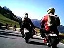 Von Passo Pordoi nach Canazai mit Honda Monkeys