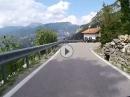 Monte Velo nach Arco: Über die SP88 (Passo Bordala) auf die SP48 nach Santa Barbara