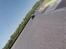 Most Kawasaki ZX-7R onboard - erstes Mal Rennstrecke Most