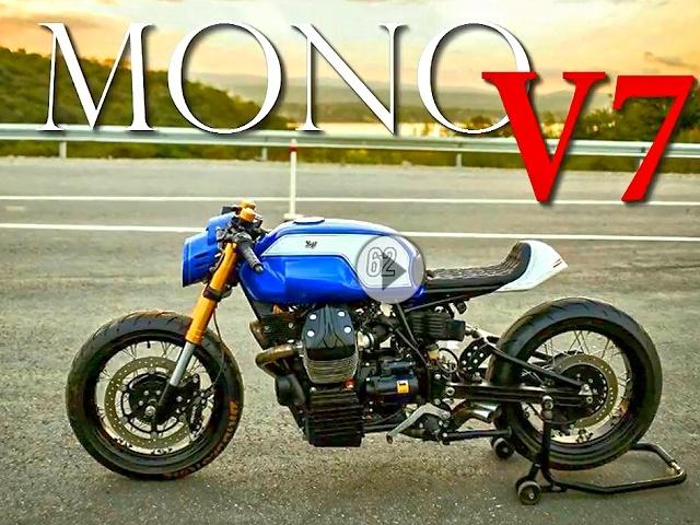 moto guzzi v7 racer mono geiler caferacer umbau von. Black Bedroom Furniture Sets. Home Design Ideas