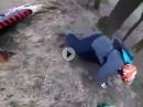 Motocross Crash: Hang hoch, Abflug, Hang runter gerollt