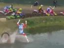 Motocross Crash: Vom Start direkt unter die Dusche - Braapp