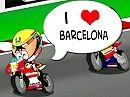 Motorrad Comic MotoGP Barcelona - Zusammenfassung Los Minibikers - cool