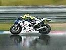 MotoGP Brünn (Brno) 2008 Training im Regen. Powerslides und krachen lassen.