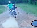 Motorcross Crash. Abfliegen klappt ja schonmal