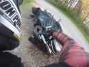 Motorcycle Crash - Dreck auf der Strasse? Überbremst? Schiß?
