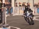 Motorcycle Porn: BMW HP4 quer ums Eck getrieben