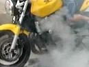 Motorplatzer mit lautem Knall - auch japanische Vierzylinder sind nicht unverwundbar *lol*