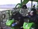 Motorrad Achterbahn / Motorcycle roller coaster um über den Winter zu kommen