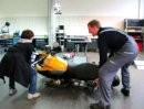 Motorrad aufheben ...