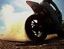 Motorrad Burnout Yamaha R6 in Zeitlupe hat irgendwas Sinnliches.