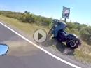 Motorrad Crash an Straßenschild: Hingeschaut und exakt getroffen