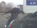 Motorrad Crash: Auffahrunfall - Da will man mal freundlich sein und bremst ...