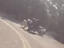 Motorrad Crash: Fußraste eingeklinkt, Highsider NICHT gerast!