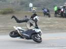 Motorrad Crash: Honda auf der Snake gehighsidert