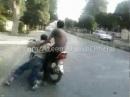Motorrad Crash - Manchmal gehen Dinge vorhersehbar schief *lol*
