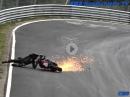 Motorrad Crash Nürburgring Nordschleife - Touristenfahrten