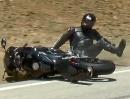 Motorrad Crash Schlagartiger Gripabriß CBR600RR vs.Snake dumm gelaufen