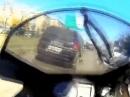 Motorrad Crash: Vollgas durch die Mitte Lichter aus! Russisch Roulette