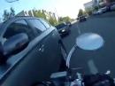 Motorrad Crash: Vorfahrt genommen und dann zweimal eingeschlagen