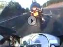 Motorrad Crash weil dumm. Da haben sich zweit Trottel gesucht und gefunden!