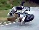 Motorrad Crash - Wenn am Berg die Kurve ausgeht wirds ganz eng