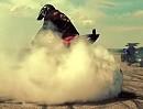 Motorrad Donut / Burnout in Zeitlupe